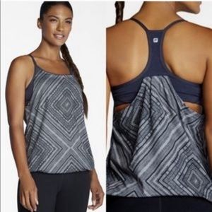 Fabletics Norwalk Tank Top Black and Gray XS